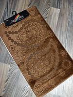 Набор ковриков в ванную и туалет 100*60 см Banyolin коричневый, фото 1