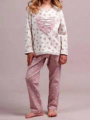 Женская пижама, меланж+шампань