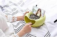 Миска для семечек с подставкой для телефона салатовый