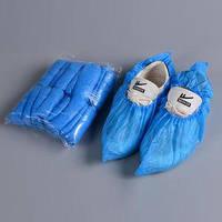 Бахилы голубые короткие (упаковка 50пар), 6 грамм