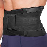 Пояс-корсет для поддержки спины черный