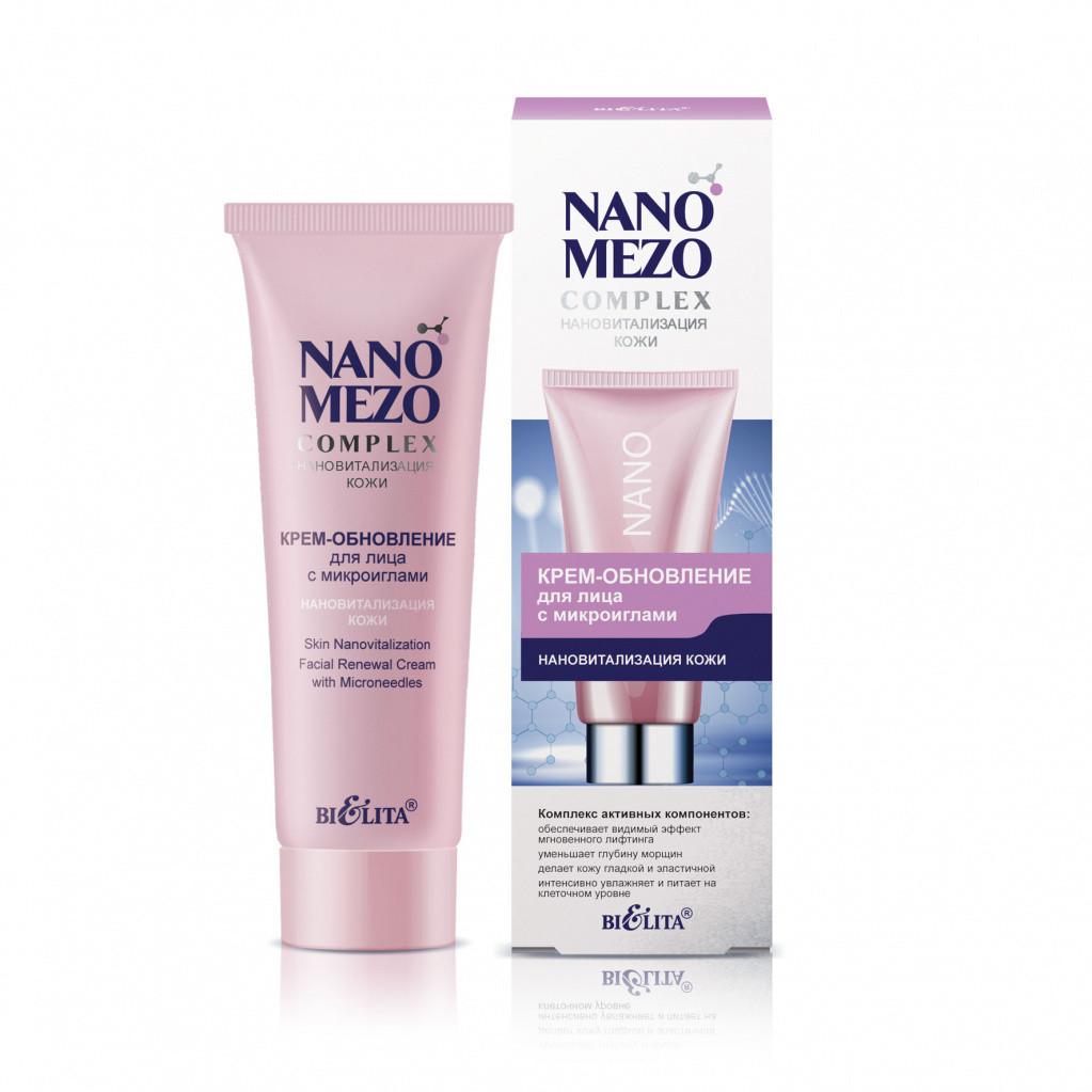 Крем-обновление для лица с микроиглами «Нановитализация кожи» Bielita NANOMEZOCOMPLEX 50 мл