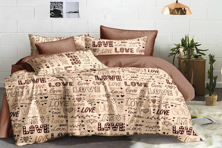 Полуторный комплект постельного белья 150*220 сатин (15976) TM КРИСПОЛ Украина, фото 2