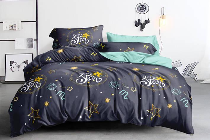Полуторный комплект постельного белья 150*220 сатин (15978) TM КРИСПОЛ Украина, фото 2