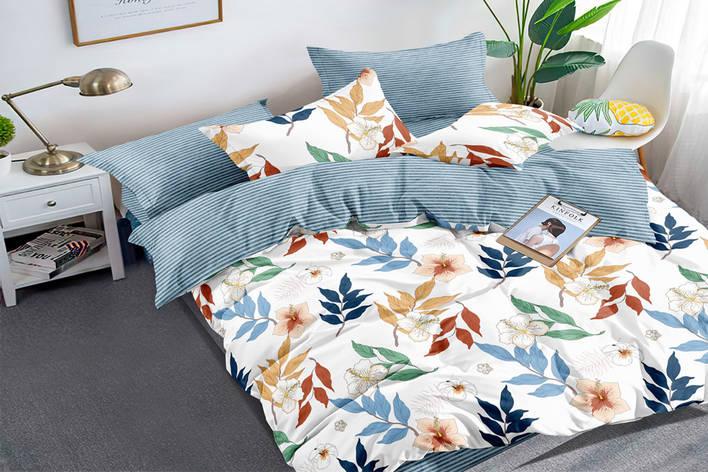 Полуторный комплект постельного белья 150*220 сатин (15979) TM КРИСПОЛ Украина, фото 2