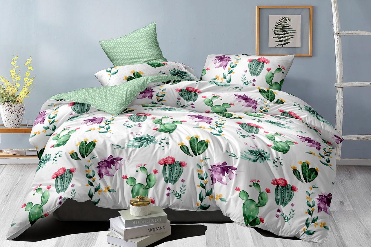 Двуспальный комплект постельного белья евро 200*220 сатин (16000) TM КРИСПОЛ Украина