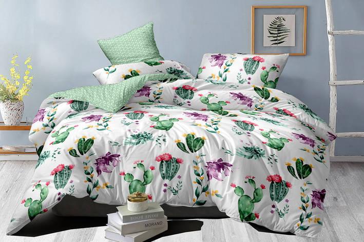 Двуспальный комплект постельного белья евро 200*220 сатин (16000) TM КРИСПОЛ Украина, фото 2