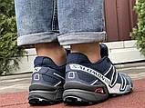Демисезонные мужские кроссовки Salomon Speedcross 3 в стиле Саломон темно-синие, фото 2