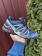 Туфлі чоловічі кросівки Salomon Speedcross 3 в стилі Саломон темно-сині