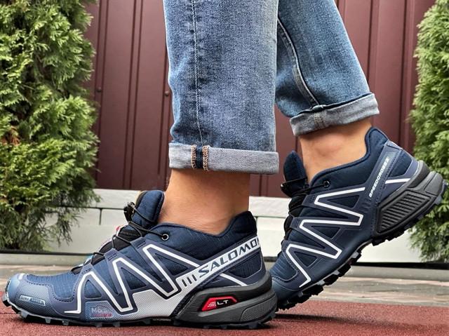 Salomon Speedcross демисезонные мужские кроссовки в стиле Саломон темно-синие