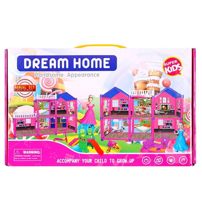 Кукольный домик с куклами и мебелью
