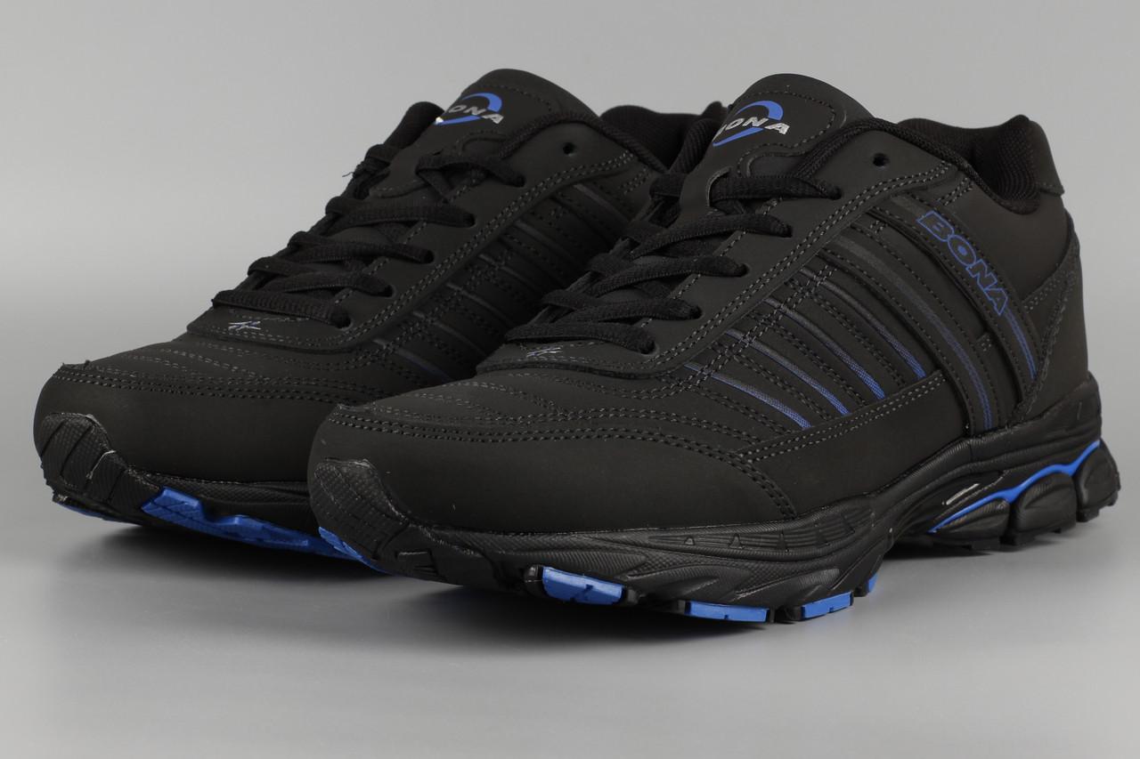 Кросівки чоловічі чорні Bona 800L Бона Розміри 42 43 45
