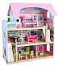 Деревянный дом для кукол с мебелью Байковый ECOTOYS, фото 4