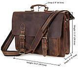 Портфель Vintage 14430 винтажная кожа Коричневый, Коричневый, фото 2