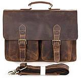 Портфель Vintage 14430 винтажная кожа Коричневый, Коричневый, фото 3