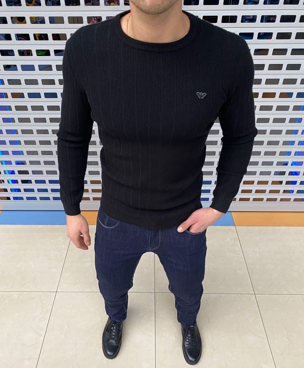 Мужская кофта Armani H1149 черная