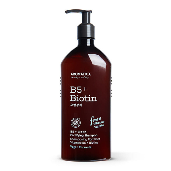 Aromatica B5+Biotin Fortifying Shampoo Шампунь з вітаміном В5 і біотином, 400 мл