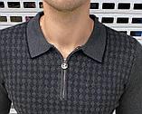 Мужская кофта Stefano Ricci H1153 серая, фото 2