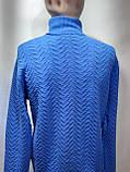 Шерстяной мужской теплый гольф Vip Stones Турция Синий, фото 8