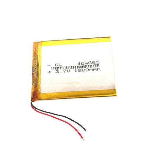 Аккумулятор 404865 Li-pol 3.7В 1800мАч для DVR GPS MP4 MP3 смартфонов, 101145
