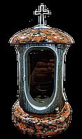 Лампадка (подсвечник) с капустянским гранитом для надгробного памятника