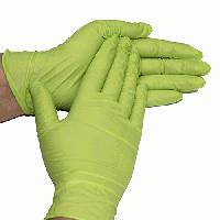 Одноразовые перчатки нитриловые смотровые нестерильные неопудренные зеленые салатовые 100 шт