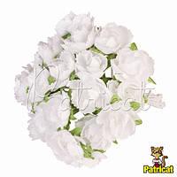 Гвоздика белая 1.5 см диаметр Декоративный букетик  10 шт/уп