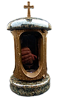 Лампадка (подсвечник) с масливським гранитом для надгробного памятника