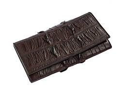 Гаманець зі шкіри крокодила Ekzotic Leather Чорний (cw 94)