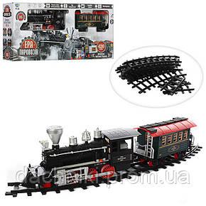 Игрушечная железная дорога длина пути 650 см, муз (рус), свет, дым, на батарейке, в коробке, 80-44-11,5 см, фото 2