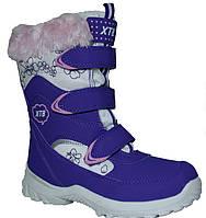 Ботинки, сапожки зимние с ледоступами девочке р.33,35,36 ХТВ (Польша)