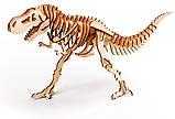 Деревянные пазлы тиранонозавр 3D пазл, фото 2