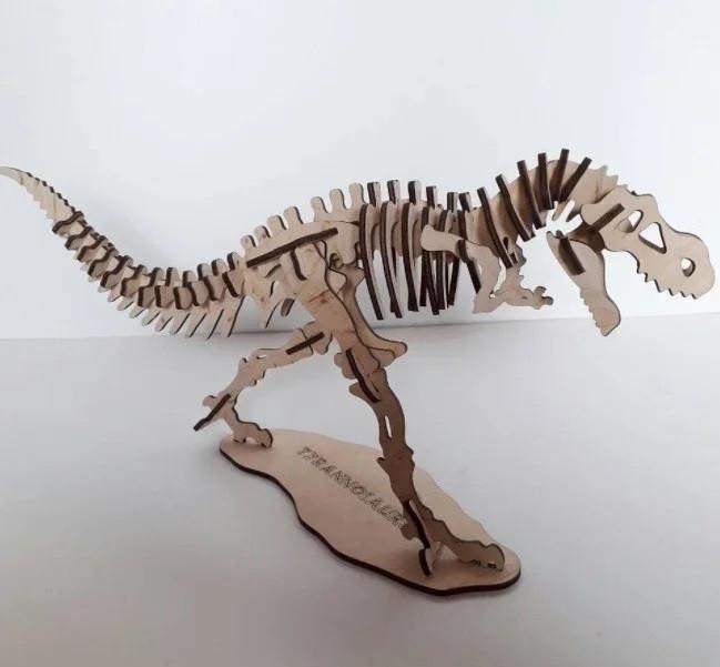 Деревянные пазлы тиранонозавр 3D пазл