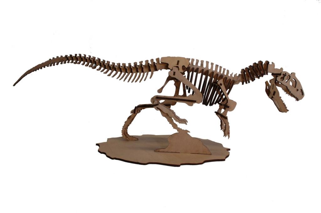 Деревянные пазлы алозавр 3D пазл