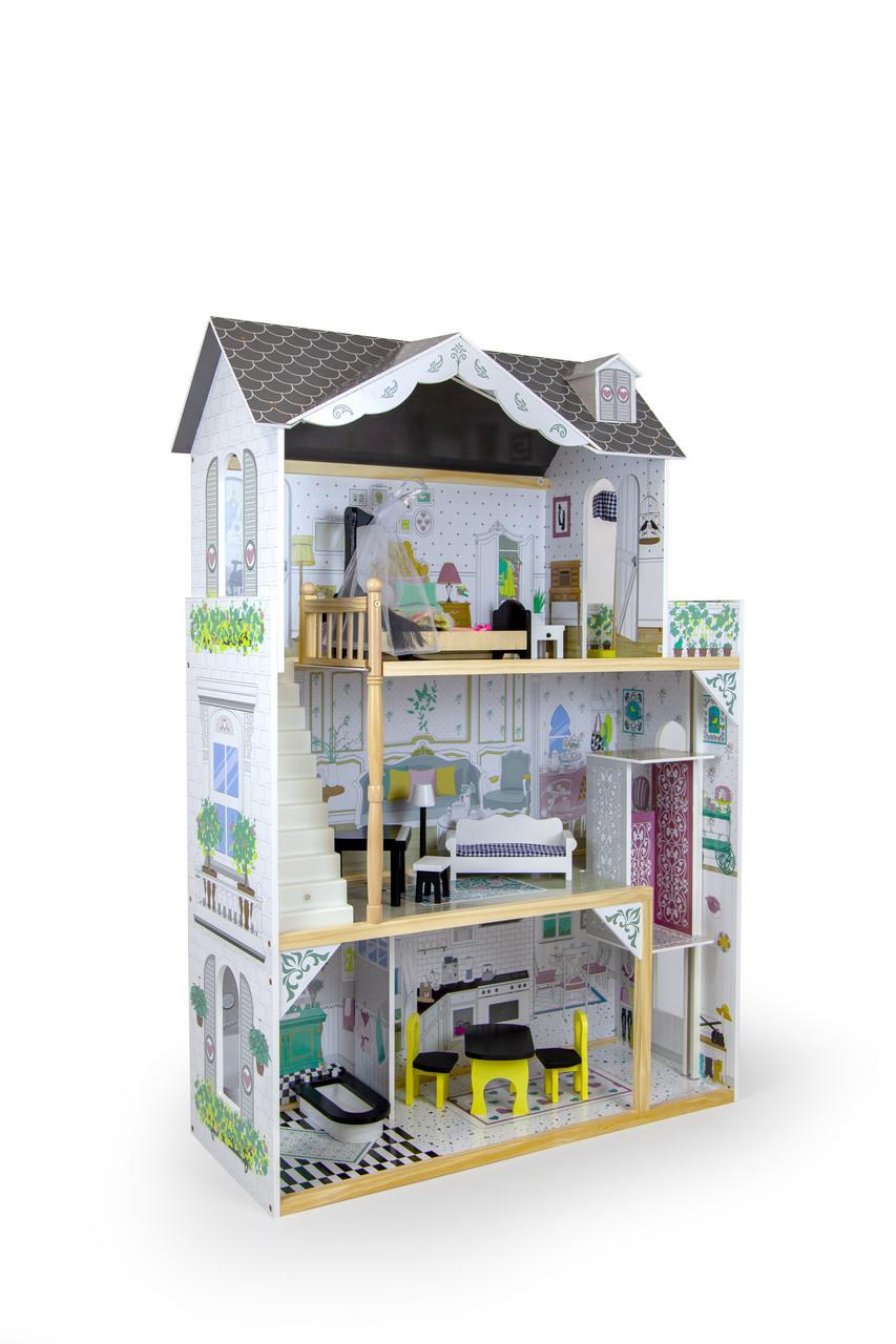 Дом для кукол c лифтом для барби AVKO Вилла Лацио +  кукла
