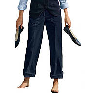 Брюки Eddie Bauer Womens Straight Leg Trousers NAVY 46 Синий 7115031NV, КОД: 1212745