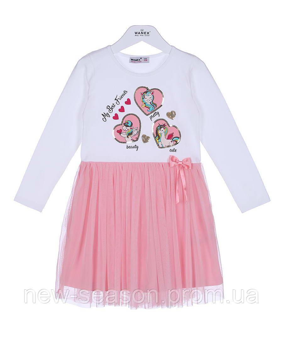 Платье с длинным рукавом 92-122 Wanex EL-2-40794