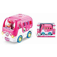 Автобус музыкальный с мебелью и аксессуарами Hello Kitty Music car Seayachts 823B/D