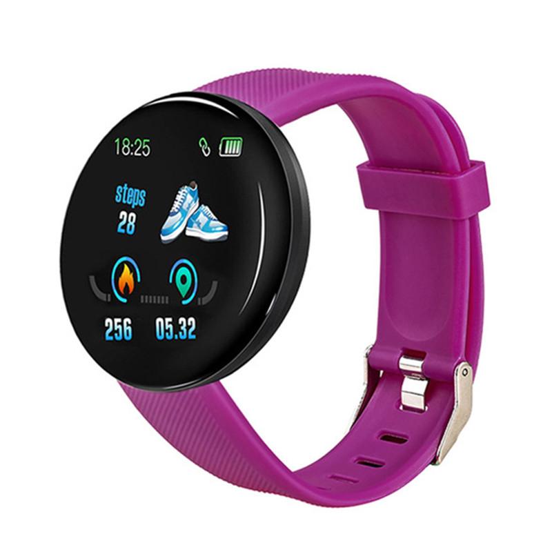 Смарт-часы Smart Watch D18 Violet Bluetooth Android IOS