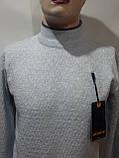 Мужской шерстяной гольф теплая водолазка  Vicente Турция Светло-серый, фото 2