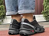 Salomon Speedcross 3 демисезонные мужские кроссовки в стиле Саломон черные с серым, фото 3