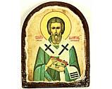 Икона под старину на левкасе (Арка 8х10см), фото 2