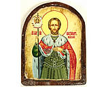 Икона под старину на левкасе (Арка 8х10см), фото 4