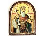 Икона под старину на левкасе (Арка 8х10см), фото 6