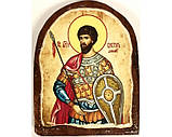 Икона под старину на левкасе (Арка 8х10см), фото 9
