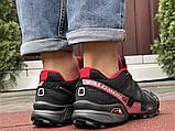 Salomon Speedcross 3 демисезонные мужские кроссовки в стиле Саломон черные с бордовым, фото 5