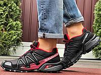 Salomon Speedcross 3 демісезонні чоловічі кросівки в стилі Саломон чорні з бордовим