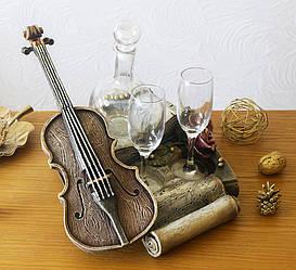 "Мини Бар ""Скрипка Романтика"" винный набор"