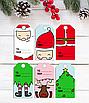 Набор детских новогодних ярлычков для подарков (6 шт.), фото 2