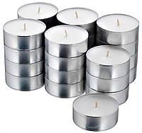 Свечи таблетки чайные ароматические декоративные IKEA SMÅTREVLIG 24 шт х 3,5 часа горения СМОТРЕВЛІГ ИКЕА